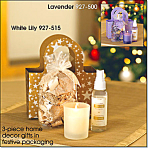 Holiday Wishes Candle Gift Set-white Lily