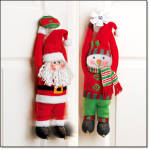 Set Of 2 -giggling Holiday Hanging Characters