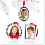 Set Of 3 Classic Photo Frame Ornaments