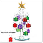 Glistening Crystal Tree With Ornaments