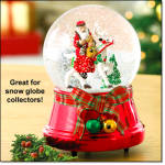 Classic Claus Snow Globe