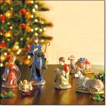 Nativity-holy Family Hand-painted 3-pc Set