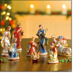 9pc Nativity Collection - Hand-painted