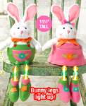 Easter Lighted Bunny Sitters - Set Of 2