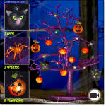 Glowing Fiber Optic Halloween Tree