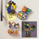Glowing Halloween Magnets - Set Of Three