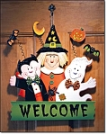 Halloween Friends Door Hanging - New