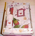 Photo Album And Candle Set With Two Red Roses