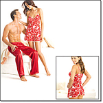 Her Heart Printbabydoll Pj And His Loungepant
