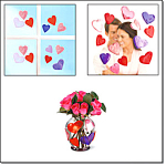 Gel Gems Valentine Hearts Window Deco
