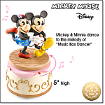 Mickey And Minnie Dancing Rotating Figurine