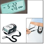 Fitness Pedometer With Safety Alarm