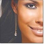 Faceted Drop Threader Earrings