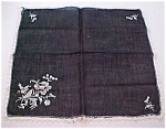 Black Handkerchief With Flowers And Lace