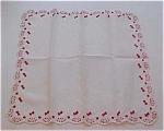 Handkerchief Wih Hearts And Flowers