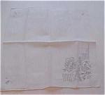 Handkerchief With Raised Flower Design