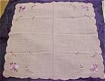 Handkerchief With Lavendar Flowers
