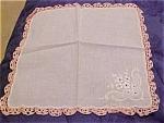 Handkerchief W/flower Design