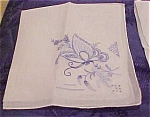 Handkerchief With Butterfly