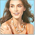 Triple Strand Honey Necklace