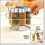Spice Jars With Caddy Set