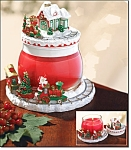 Santa's Workshop Candle Jar And Topper