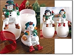Jolly Snowpeople Candle Jar - New