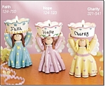 Decorative Tealight Angel - Set Of 3