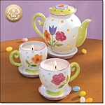 Tea Time Floral Brights Candle Collection