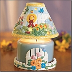 Spring Garden Candle Jar Lamp - New
