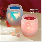 Set Of 2-tealight Shadow Casters Candles-new