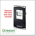 Oregon Scientific Card-sized Mp3 Player