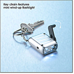 Avon Key Chain With Hand-crank Flashlight