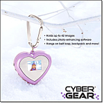 Cyber Gear Digital Heart Photo Frame