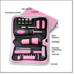 Pink Multi-tool Kit Zip Case