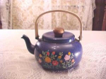 Toleware Teapot With Floral Design