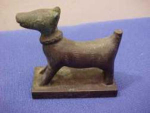 Miniature Bronze Dog Statuette