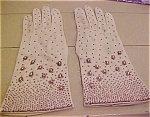 Creme Colored Beaded Gloves