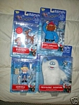 Set Of 4 Island Of Misfit Deluxe Action Figs