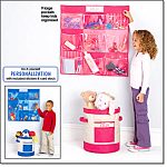 Hanging Wall Pocket And Storage Bucket Set
