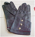 Navaho Leather Gloves With Stars