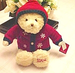 2004 Dillard's Christmas Bear With Tags