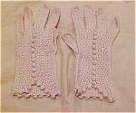 Beige Crocheted Gloves