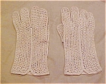 Creme Crocheted Gloves
