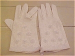Cotton Gloves With Beading