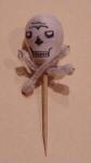 1940's Halloween Skull Toothpick