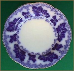 Flow Blue: Normandy Luncheon Plate