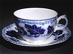 Flow Blue: Normandy Cup And Saucer Set