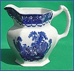 Flow Blue: Watteau Pitcher