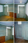 Rare 18th Century Room With Original Blue Paint